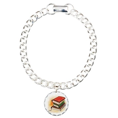 Books Charm Bracelet, One Charm