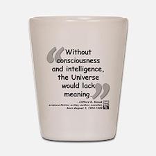 Simak Universe Quote Shot Glass