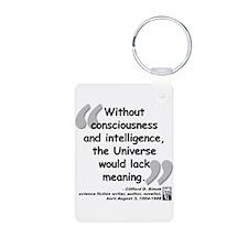 Simak Universe Quote Aluminum Photo Keychain