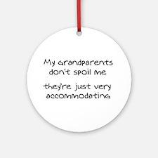 Accommodating Grandparents Ornament (Round)