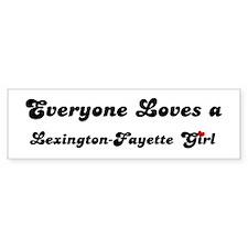 Loves Lexington-Fayette Girl Bumper Bumper Sticker