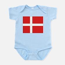 Denmark (Dannebrog) Flag Infant Creeper