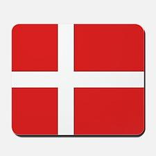 Denmark (Dannebrog) Flag Mousepad