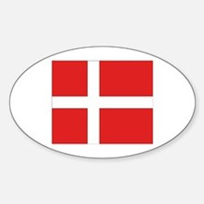 Denmark (Dannebrog) Flag Oval Decal