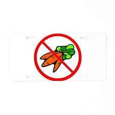 No Carrots Aluminum License Plate