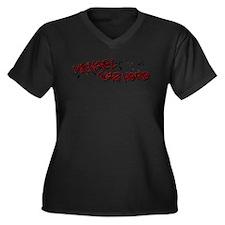 Michael WH Women's Plus Size V-Neck Dark T-Shirt