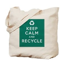 Keep Calm and Recycle Tote Bag