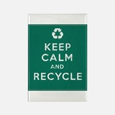 Keep Calm and Recycle Rectangle Magnet