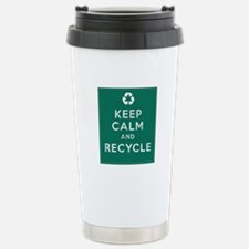 Keep Calm and Recycle Travel Mug