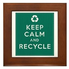 Keep Calm and Recycle Framed Tile