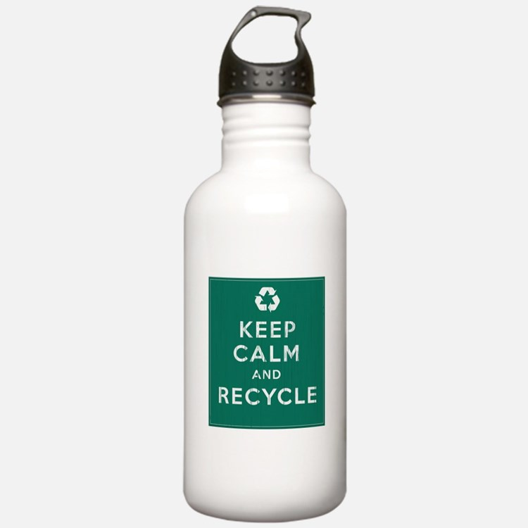 Keep Calm and Recycle Water Bottle
