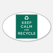 Keep Calm and Recycle Sticker (Oval)