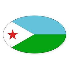 Djibouti Flag Oval Decal