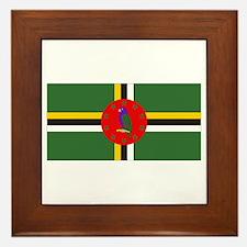 Flag of Dominica Framed Tile