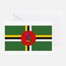 Flag of Dominica Greeting Cards (Pk of 10)