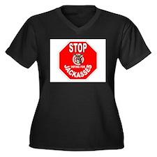 VOTE THEM OUT Women's Plus Size V-Neck Dark T-Shir