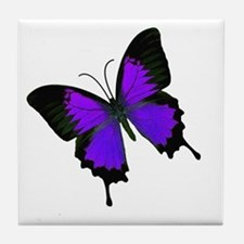 Purple Swallowtail Tile Coaster