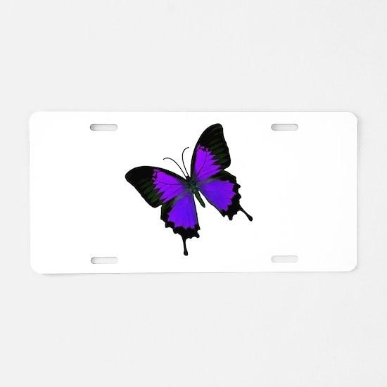 Purple Swallowtail Aluminum License Plate