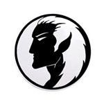 "Dark Elf Designs 3.5"" Button (100 pack)"