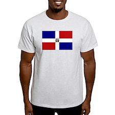 Dominican Republic Flag Ash Grey T-Shirt