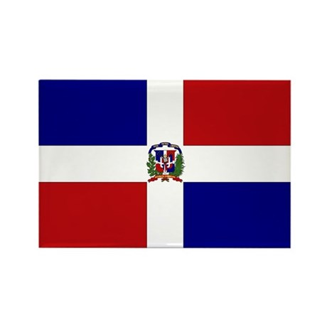 Dominican Republic Flag Rectangle Magnet (10 pack)