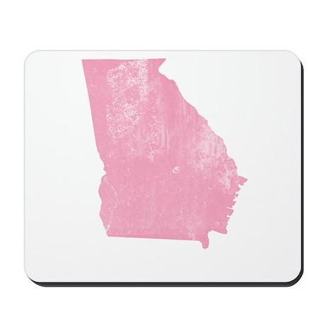 Vintage Grunge Pink Georgia Mousepad