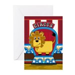 Cute Circus Lion Greeting Cards (Pk of 20)