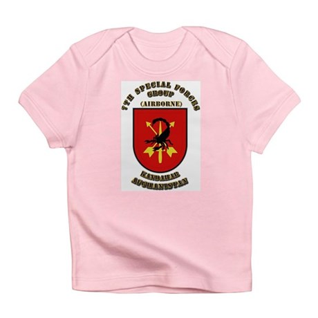SOF - 7th SFG - Iraq - Flash with Text Infant T-Sh