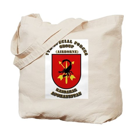SOF - 7th SFG - Iraq - Flash with Text Tote Bag