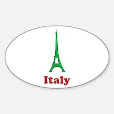 Italy eiffel tower Sticker (Oval)