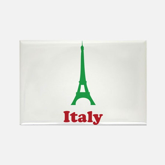 Italy eiffel tower Rectangle Magnet