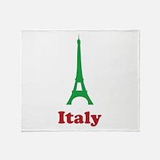 Italy eiffel tower Throw Blanket