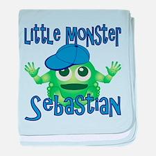 Little Monster Sebastian baby blanket