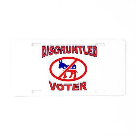 VOTE DEMOCRATS OUT Aluminum License Plate