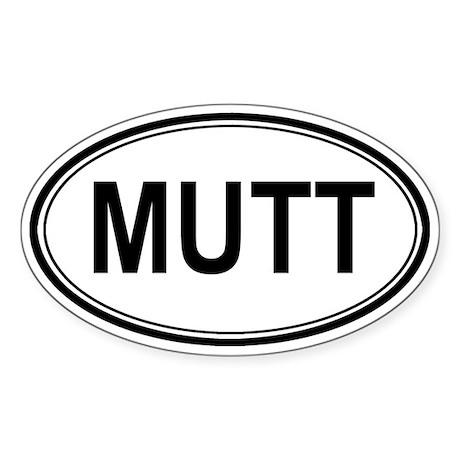 Mutt Euro Oval Sticker