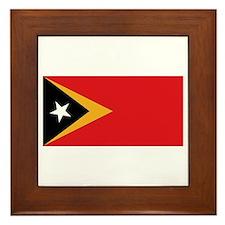 Flag of East Timor Framed Tile