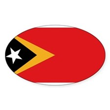 Flag of East Timor Oval Decal