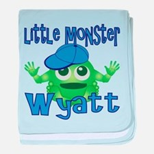 Little Monster Wyatt baby blanket