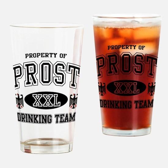 Prost German Drinking Team Drinking Glass