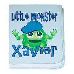 Little Monster Xavier baby blanket