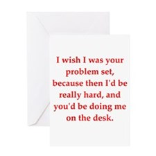 geel math lovers Greeting Card
