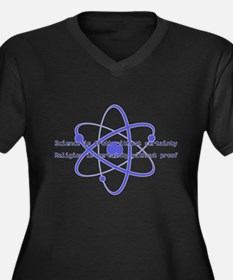 Science Is Truth Women's Plus Size V-Neck Dark T-S