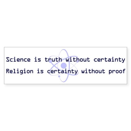 Science Is Truth Sticker (Bumper)