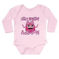 Little Monster Addison Long Sleeve Infant Bodysuit