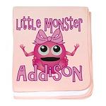 Little Monster Addison baby blanket