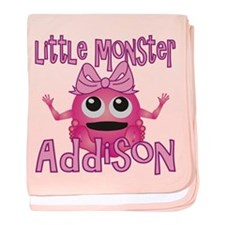 Little Monster Addison baby blanket