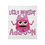 Little Monster Addison Throw Blanket