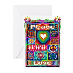 Collage: Peace & Tie Dye Greeting Cards (Pk of 20)