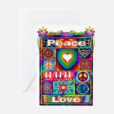 Collage: Peace & Tie Dye Greeting Card