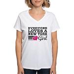 Everyone Loves a New York Girl Women's V-Neck T-Sh